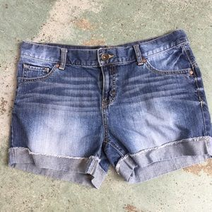 Mossimo Blue denim Jean shorts women junior 11